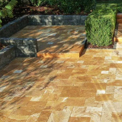 Gold Pavers French Pattern Tiles Tampa FL