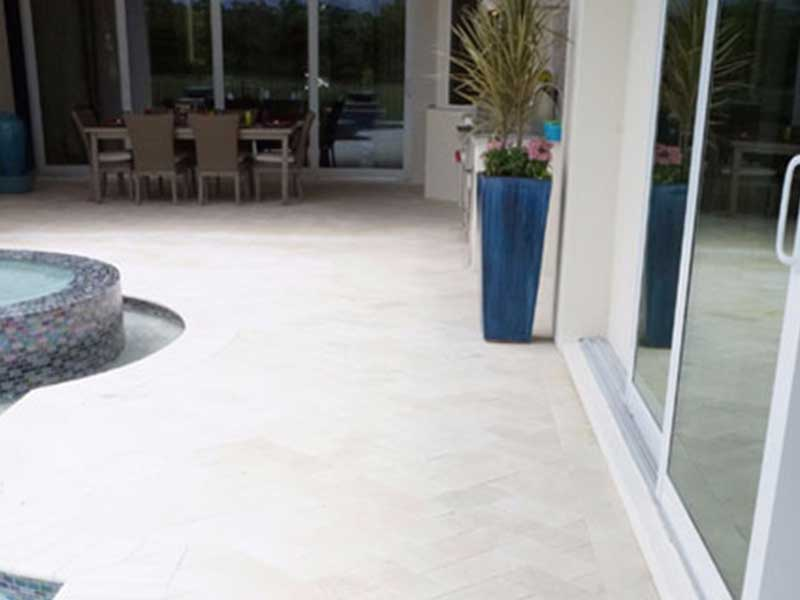 Shell Stone Pavers French Pattern Tiles Tampa FL